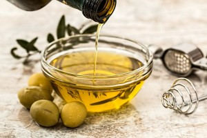 olivový olej miska