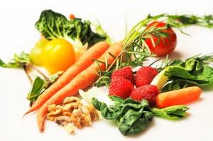 zelenina a ořechy