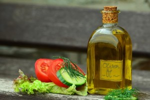 olivový olej lahvička