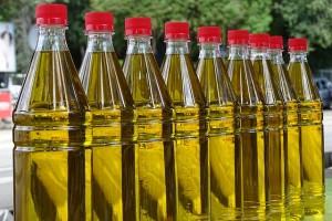 olivový olej lahve