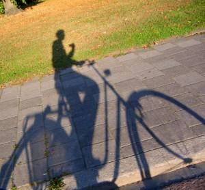 cyklista-stín