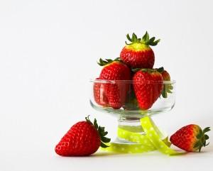 jahodový pohár
