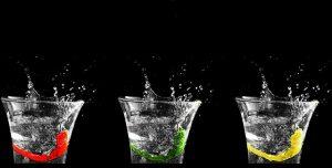 sklenicky s vodou
